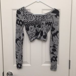 Forever 21 Cropped Long Sleeve Comic